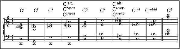 Piano piano chords c7 : Chord voicings
